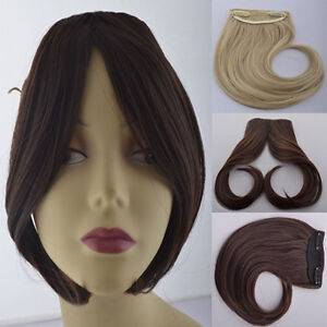 Usa side bangs clip on front neat bang fringe clip in hair image is loading usa side bangs clip on front neat bang pmusecretfo Image collections