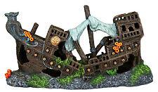 Wooden Galleon Shipwreck Fish Tank Cave Ornament Aquarium Decoration