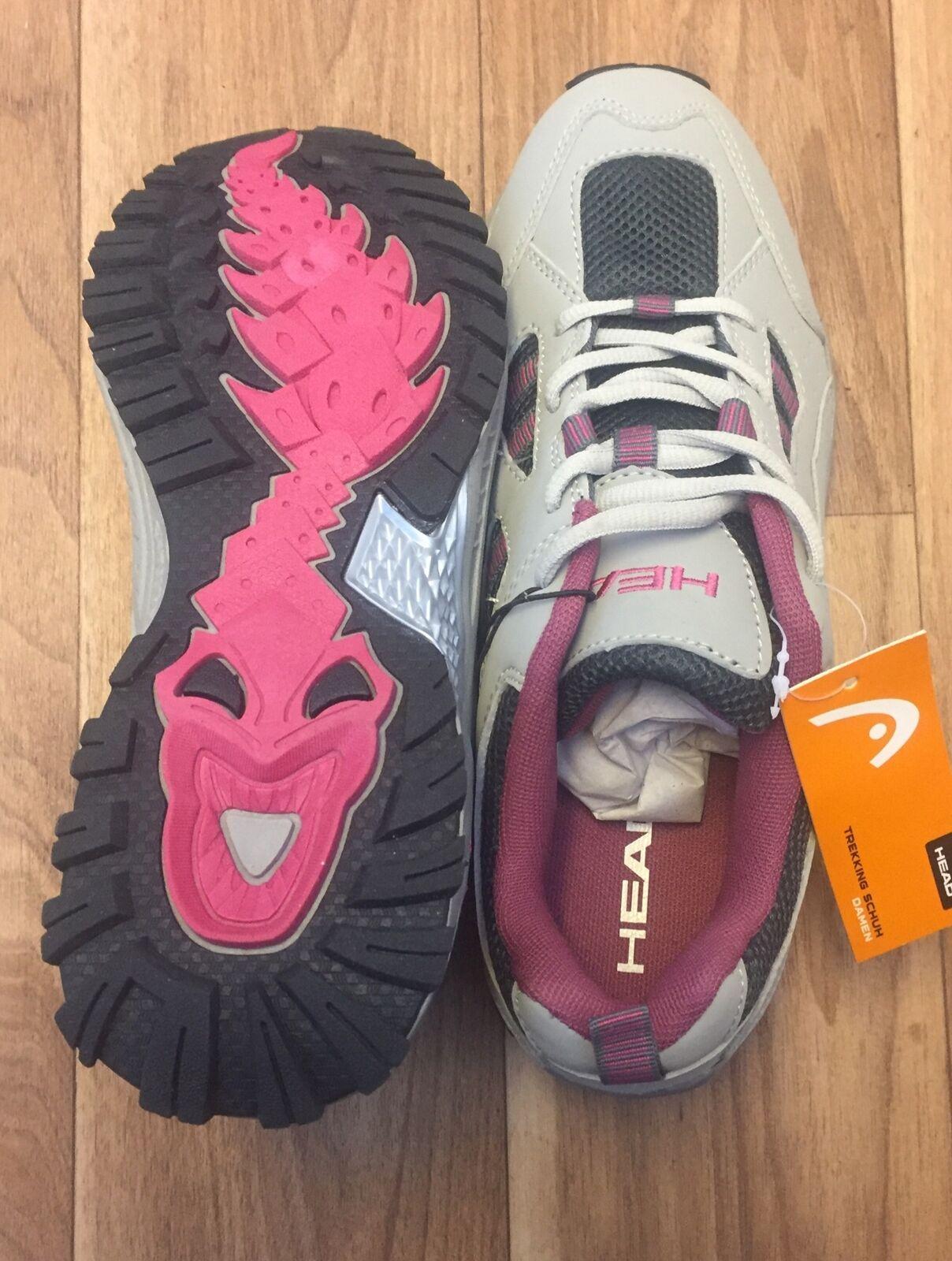 Head Trek Marche Escalade Randonnée Pédestre Baskets Basses Chaussures De Randonnée Gris/Dahlia UK 6.5