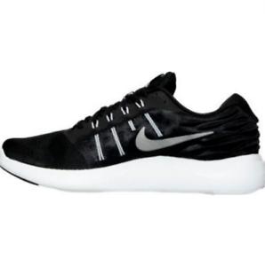 ccd3db4990df Men s Nike LunarStelos Running Black Metallic Silver Anthracite ...