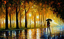 "Bewitched Park — Oil Painting On Canvas By Leonid Afremov. Size: 40""x24"