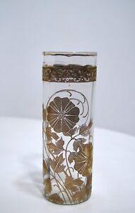Jarron-1900-Flores-Vaso-Adornada-Para-Acido-Dorado-Arte-Nuevo-Altura-17cm