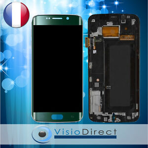 Ecran-complet-pour-Samsung-Galaxy-S6-Edge-G925F-vert-vitre-tactile-LCD-chassis