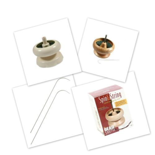 Spin N String Wooden Bead Spinning Wheel *THREE SIZES* Craft Tool for Seed Bead