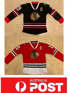 new product c04d3 9aed7 Details about Ice Hockey jerseys, Chicago Blackhawks #19 Toews jersey, AU  stock