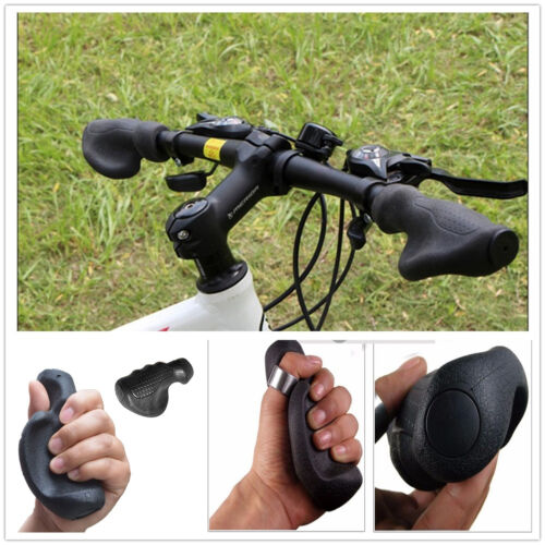 Ergonomic Bicycle Bike Cycling Anti-Skid Shockproof TPR Rubber Handlebar Grips