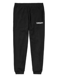 Carhartt Uomo Nero Pantaloni Tuta College Regolabile Caviglie Polsini Alle E 7UnU5x