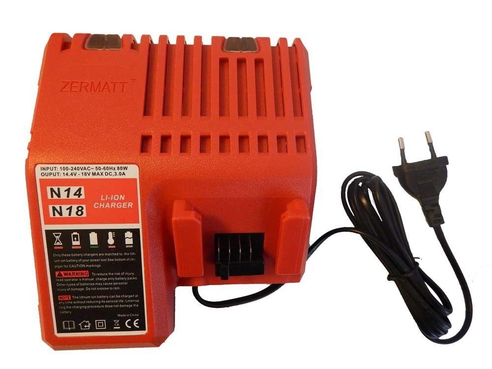 Cargador Li-Ion 14.4V - 18V para Milwaukee YTB313,C14DD,C14 DD