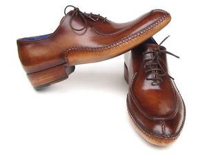 Paul-Parkman-MEN-039-S-SIDE-cuciti-a-mano-Split-Toe-Oxford-Marrone-ID-054-BRW