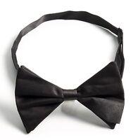 Black Formal Bow Tie Mens Boys Adult Bowtie Tuxedo Tux Pre-tied Adjustable
