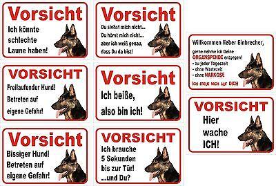 Sinnvoll Schild Vorsicht Deutscher Schäferhund 15x20 Bis 40x60cm Hund Warnschild Tür