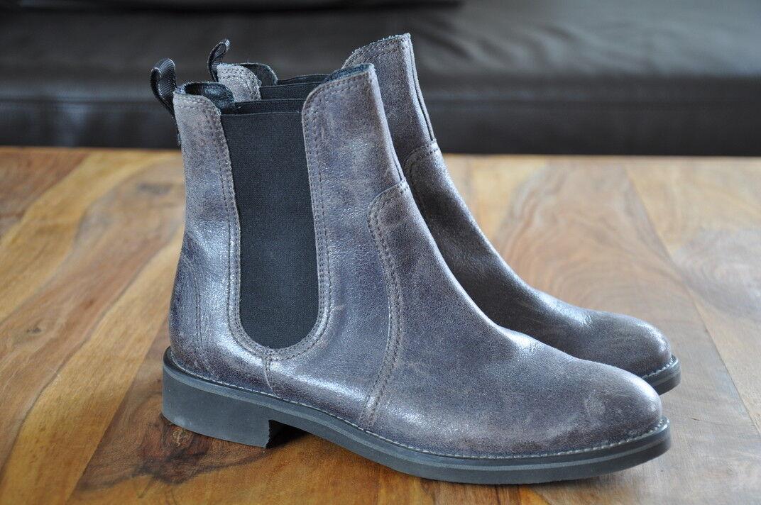Paul Green Chelsea Boot, 37 / 4 , Grau Metallic, Bntik Look !