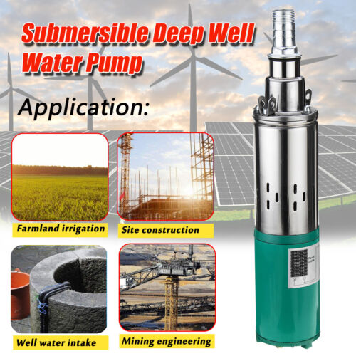 220W DC 12V 15m Electric Solar Deep Well Water Pump Submersible Bore Hole Pond