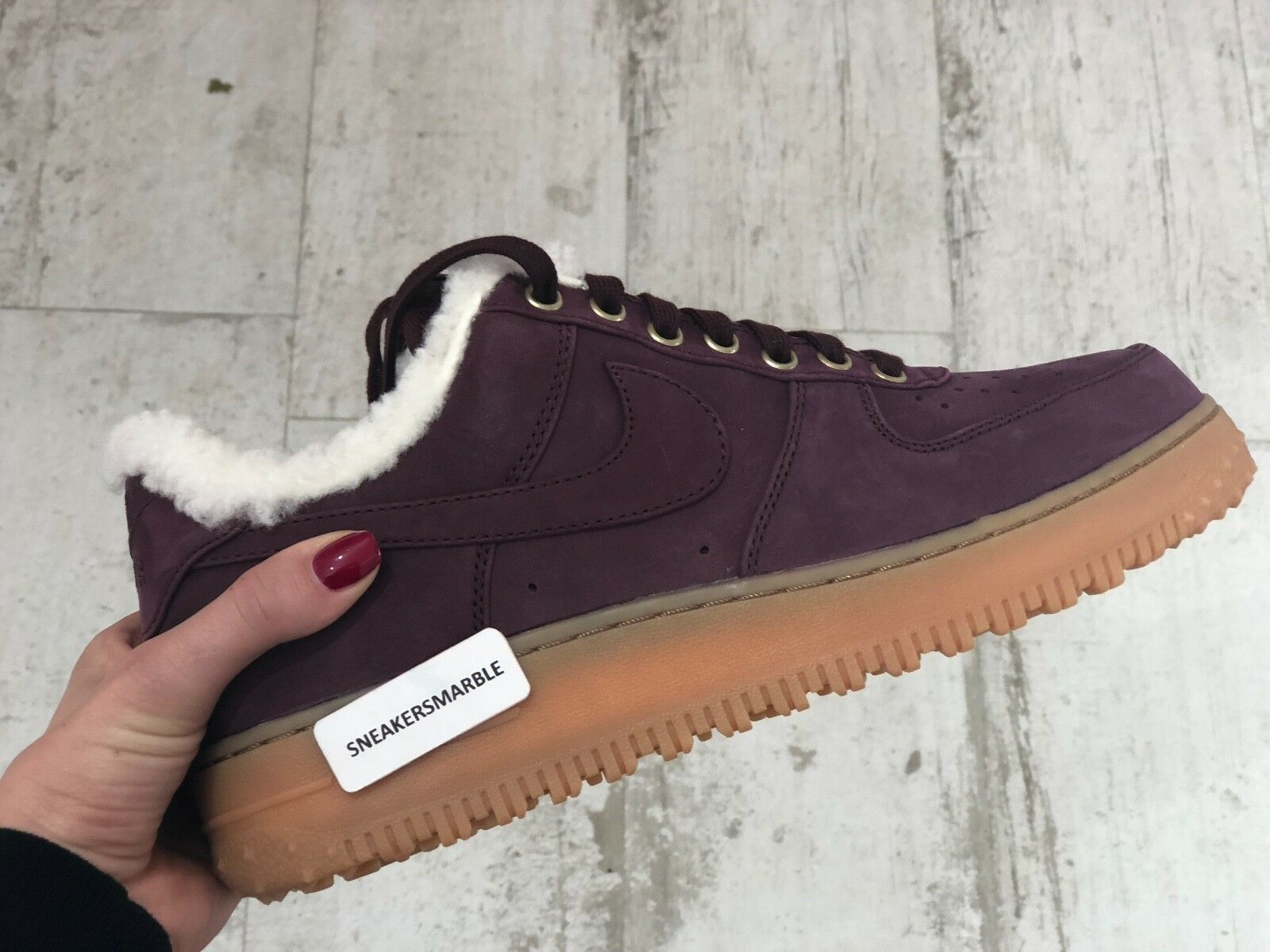 Nike Air Force 1 Premium hiver Bourgogne Crush GUM light marron AV2874-600