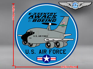 US-AIR-FORCE-USAF-ROUND-PUDGY-BOEING-707-B707-E-3-E3-SENTRY-AWACS-DECAL-STICKER
