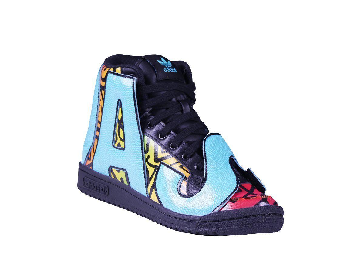 Adidas JS Letters Multicolor D65213 Sneaker Jeremy Scott Herren High Sneaker D65213 Alle Größen 0b2221