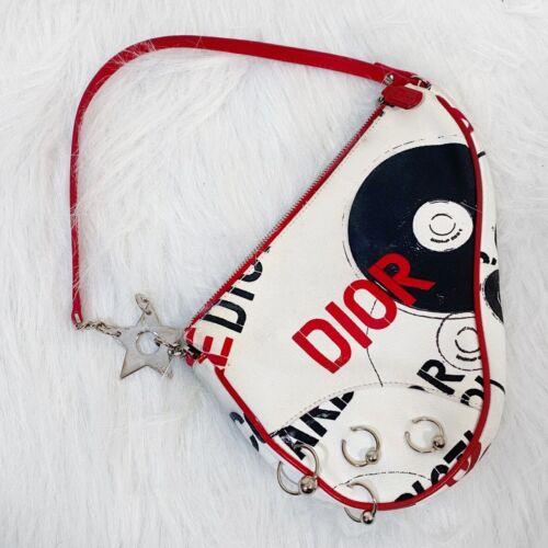CHRISTIAN DIOR hardcore piercing punk saddle bag J