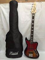 Brand New JR RN 3TS 4 String Bass Guitar New Sunburst, Free Gig Bag