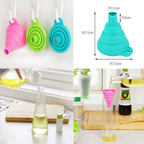 Gel Collapsible Gadget Hopper Foldable Funnel Kitchen Tools Practical