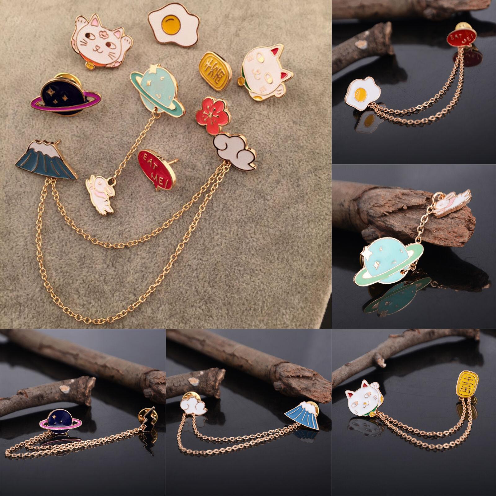 1a3b9e052ff Fashion Cute Enamel Collar Pin Badge Corsage Cartoon Metal Brooch Pins  Jewelry 2 2 of 12 ...