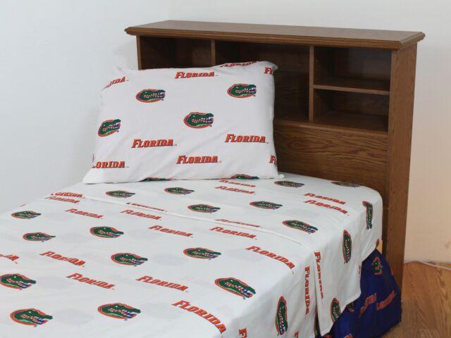 NEW! Florida Gators FULL Comforter /& Sheet Set NCAA 5 Piece Bedding