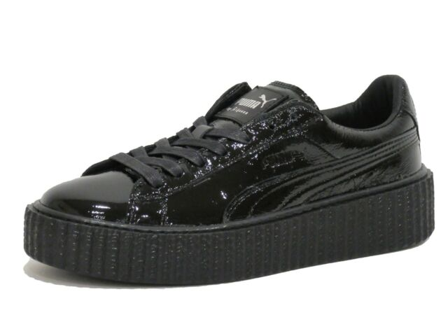c43a0578d85 PUMA Womens Fenty by Rihanna Black Creeper Wrinkled 36446501 SNEAKERS Shoes  8