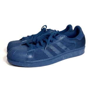 Details about Adidas Superstar Mens Blue Mesh Sneakers Athletic Shoes Size 12