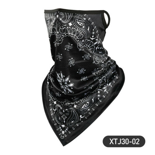 Face Neck Cover Gaiter Tube Bandana Headband Guard Scarf With Ear Loops NEW