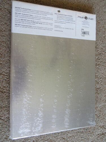 Metallic Silver PP6 Mill Hill 14 count Painted Perforated Paper