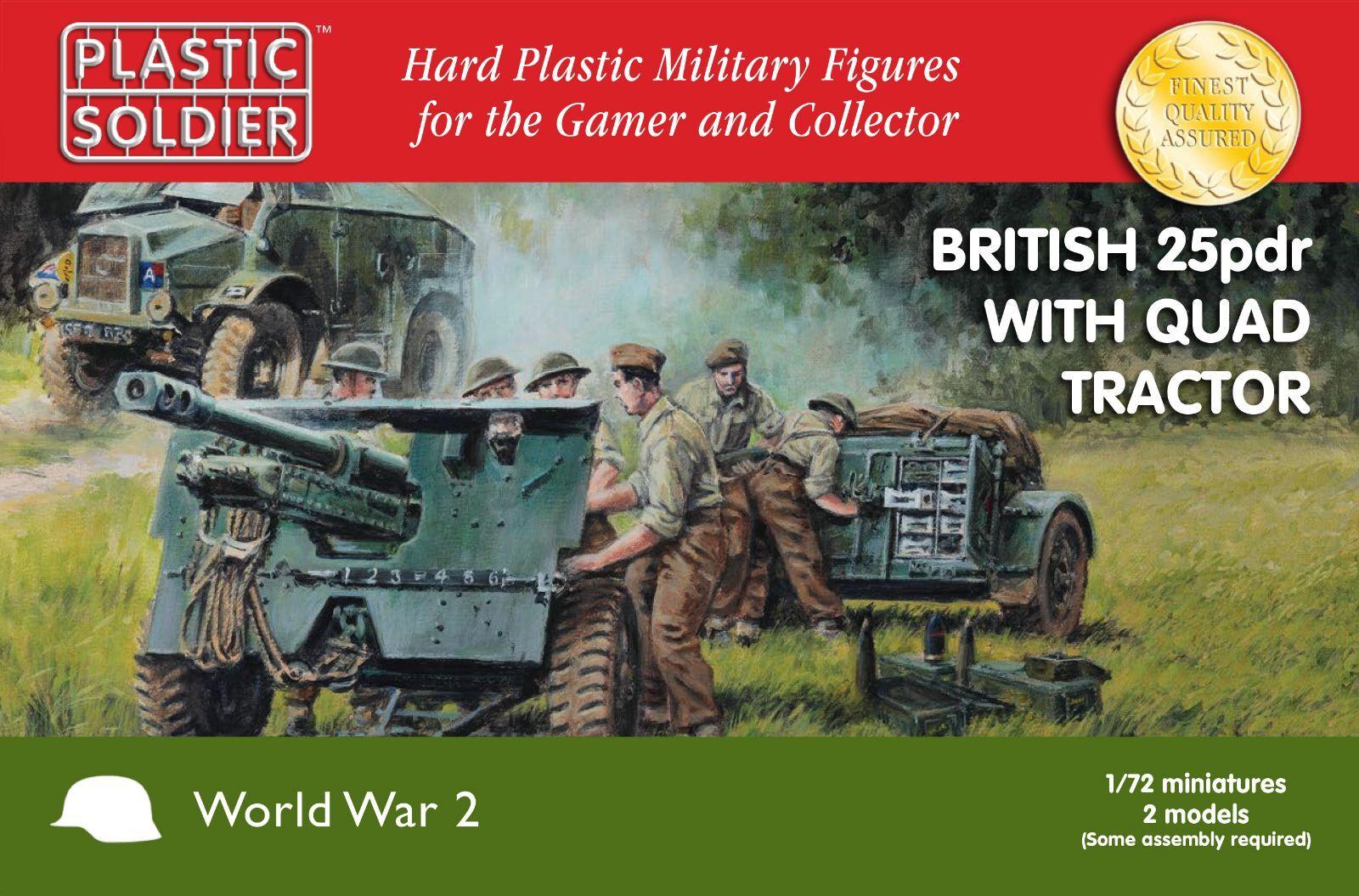 WW2G20006 - BRITISH 25PDR & MORRIS QUAD TRACTOR - PLASTIC SOLDIER COMPANY 1 72