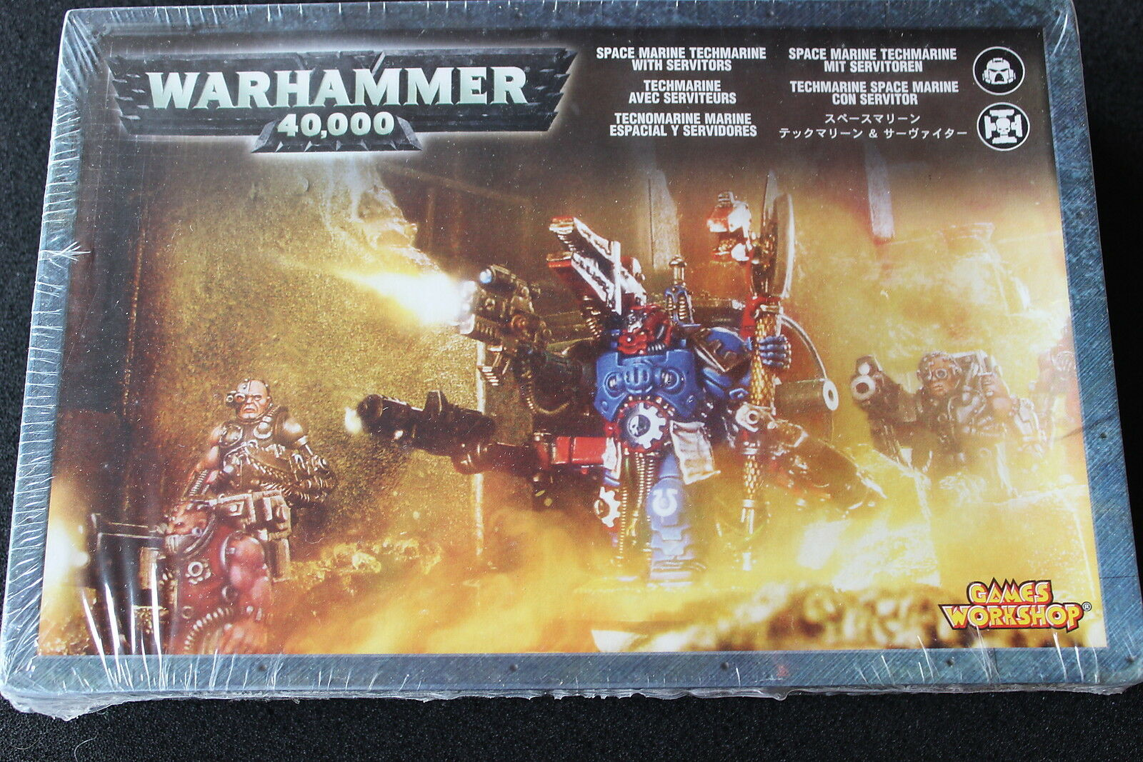 Games Workshop Warhammer 40k Space Marines Techmarine & Servitors Metal BNIB OOP