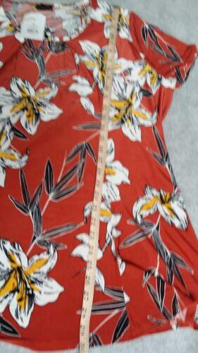 Collana taglie stampata motivo maniche a floreale forti donna 22 con corte SSwUA1qx