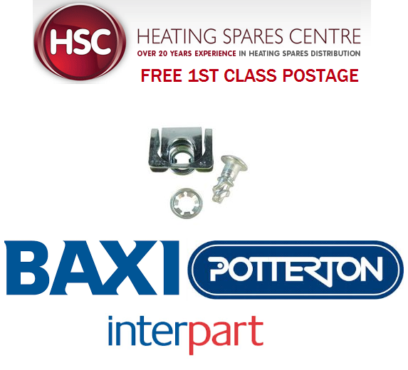 BAXI SOLO 12HE 15HE 18HE 24HE 30HE DZUS RETAINER (OUTER CASE CLIP) 241139 - NEW