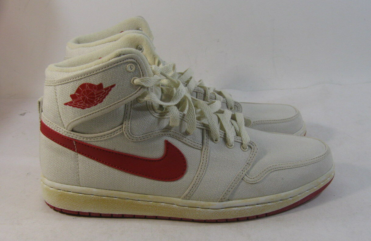 Nike Air Jordan 1 Retro Ko Hi White Red 2010 Bred 402297-161 Size 11