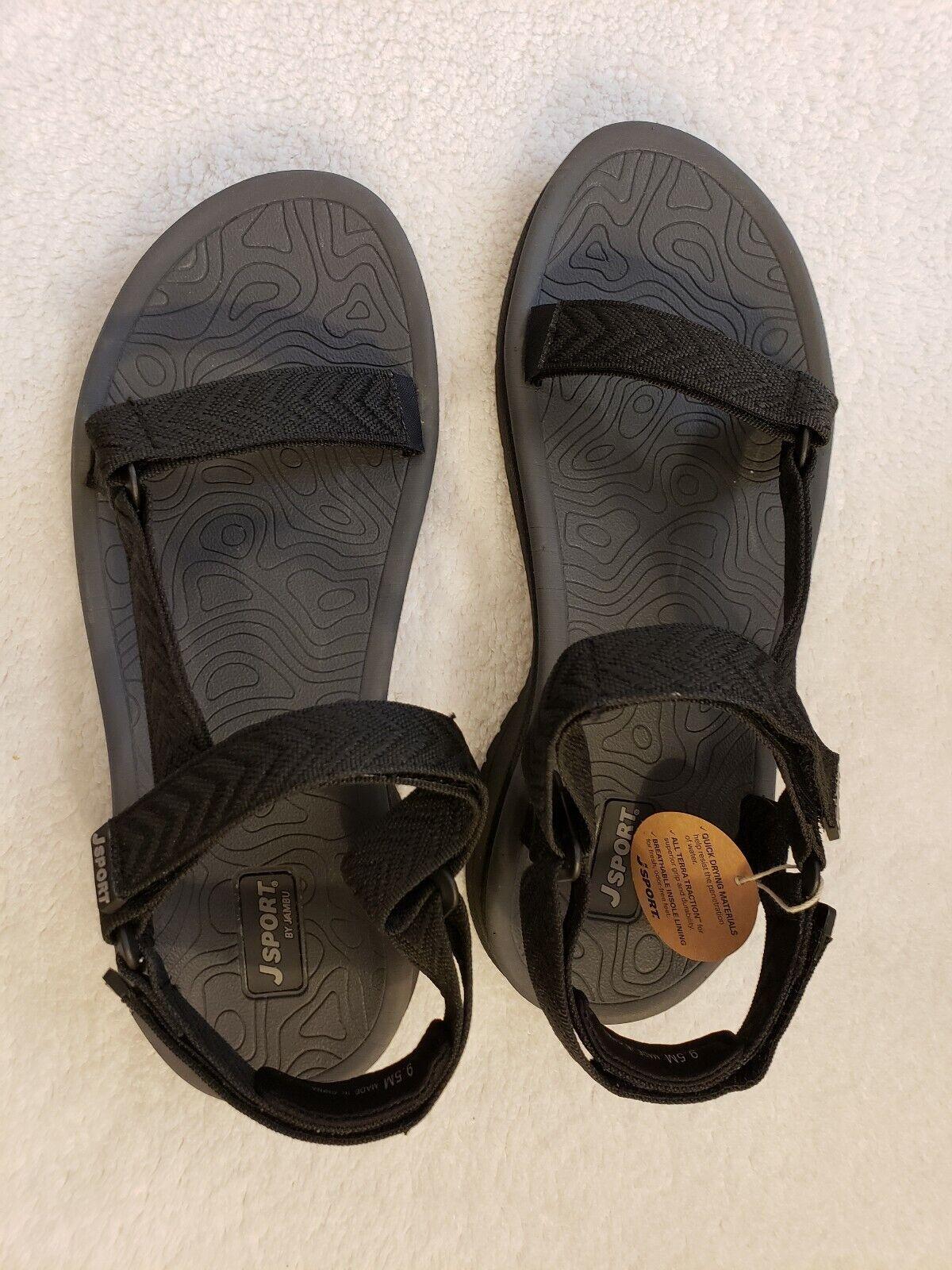J Sport para mujer Navajo agua listo Sandalias Velcro Negro 9.5 M
