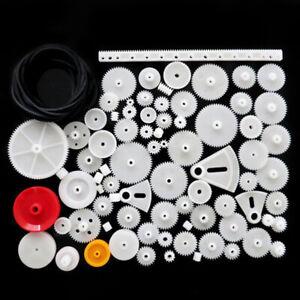 81-pieces-d-039-engrenages-plastiques-blancs-de-differents-styles-DIY-RC-jouet-FR