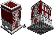 LEGO Ghostbuster HQ PDF instructions custom mini modular 10228 10230 MOC