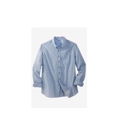 8XL NWT MEN PLUS SIZE BIG AND TALL Shrink-Less™ Long Sleeve Sport Shirt XL