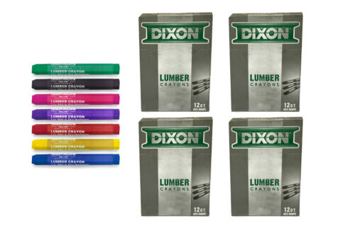 4 Doz. Boxes with Color Choice Dixon Lumber Crayons 48 Count