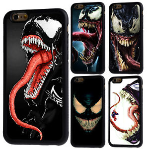new styles a6c44 21670 Details about Venom Spiderman Marvel Rubber Phone Case For iPhone 5/5s 6/6s  7 8 X Plus Cover