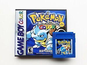 Pokemon-Blue-DX-FULL-COLOR-Case-Game-Nintendo-Game-Boy-GBC-GBA-US-Seller