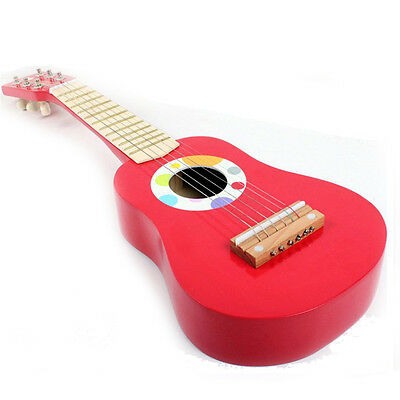 Children Guitar Toys Musical Wooden Instrument Educational Kids Gifts 6 String
