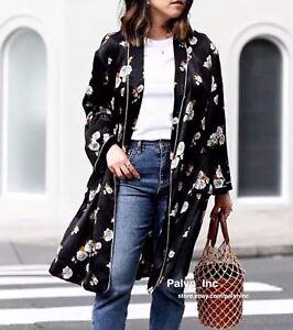 à Aw17 L Nwt M imprimé Zara s 7860 floral 110 habillée kimono Veste na7xHq75O