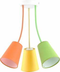 Flexible Adjustable Ceiling Light Banta Orange Yellow Green Children Room Light