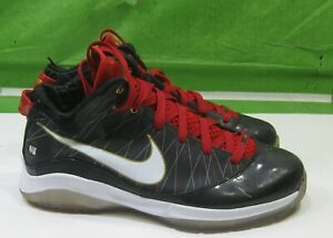 81f69e085674 NIKE Lebron VII P.S. Black Red Mens Basketball Shoes 407639-002 Size ...