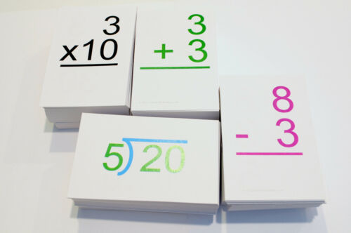 ALL DOLCH Sightword & ALL 0-12 Addition Subtract Multiplication Divide Math Card