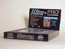 """(100) Ultra Pro 2 1/2 x 3 1/2"""" 4 Pocket Mini Album Pages - Mini Team Set Binders"""