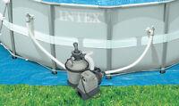 Intex 1200 Gph Krystal Clear Above Ground Pool Sand Filter Pump Set | 28643eg on sale