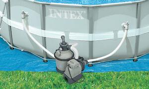 Intex 1200 GPH Krystal Clear Above Ground Pool Sand Filter Pump Set