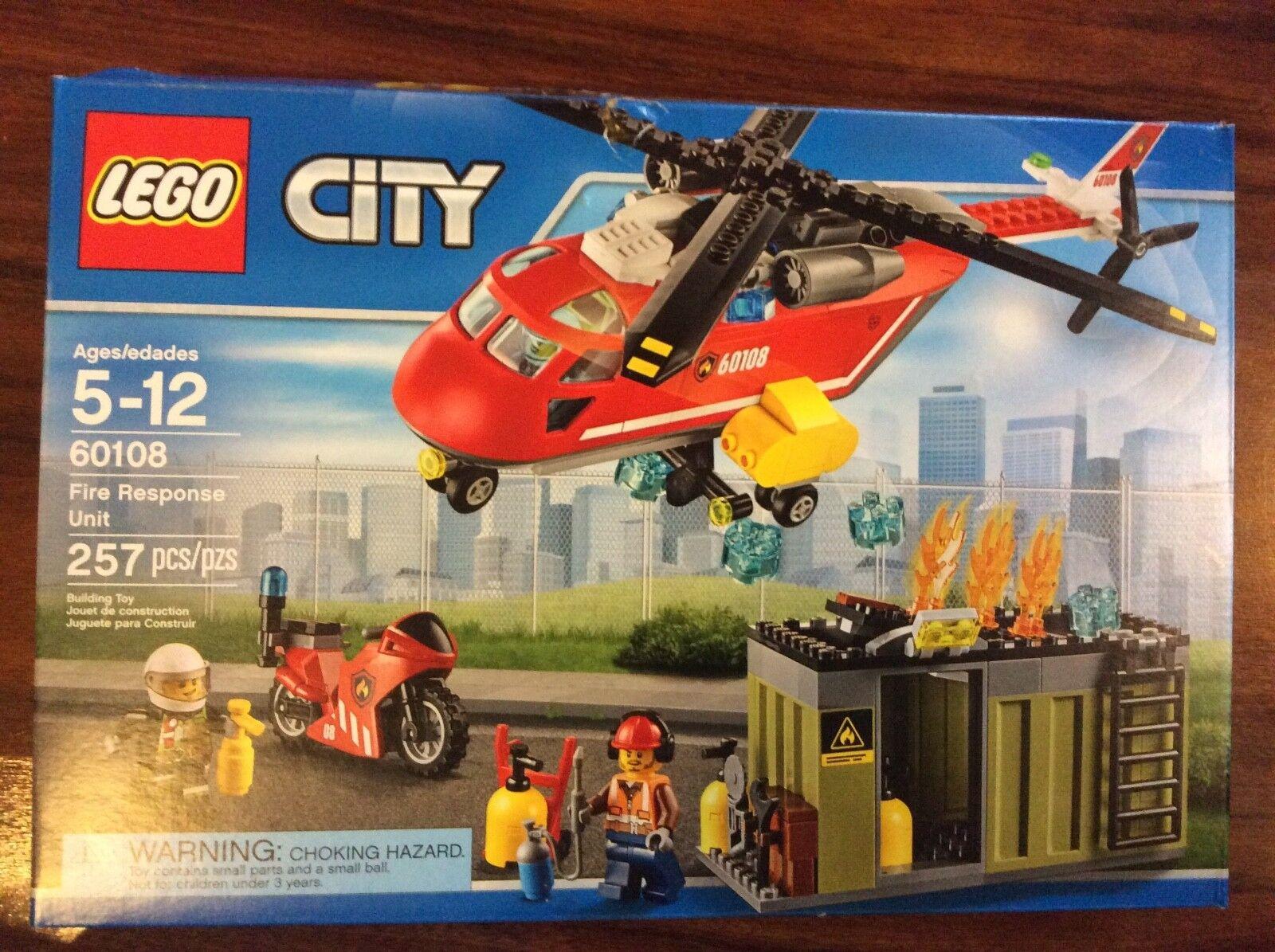 New Lego City Fire Response Unit set 60108 in Sealed Damaged Box
